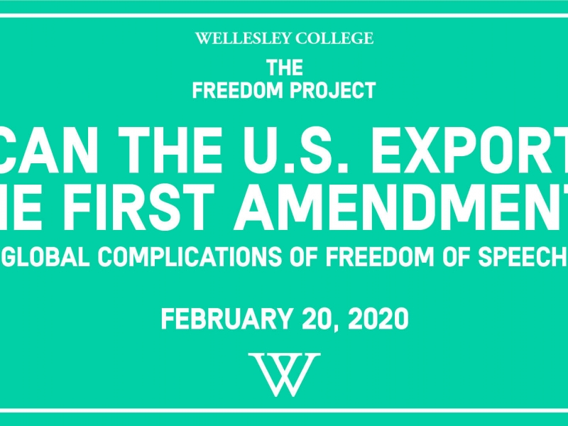 Can the US export the first amendment?