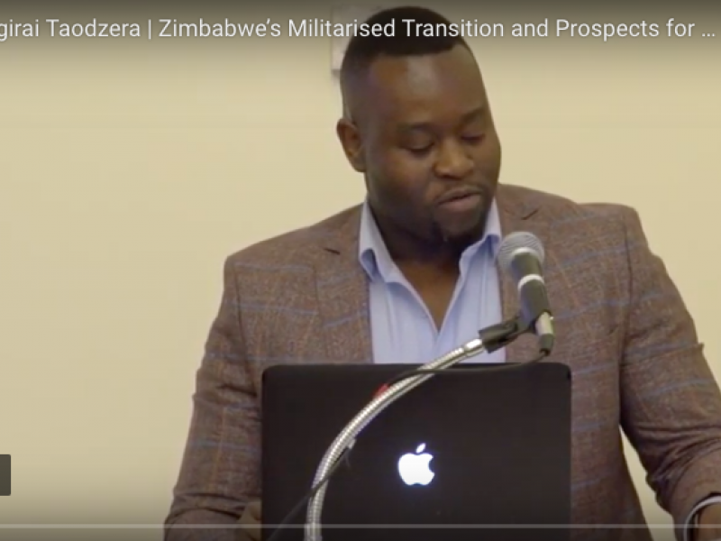 The Rooster Falls and The Crocodile Rises:  Zimbabwe's Militarized Transition and Prospects for the Future