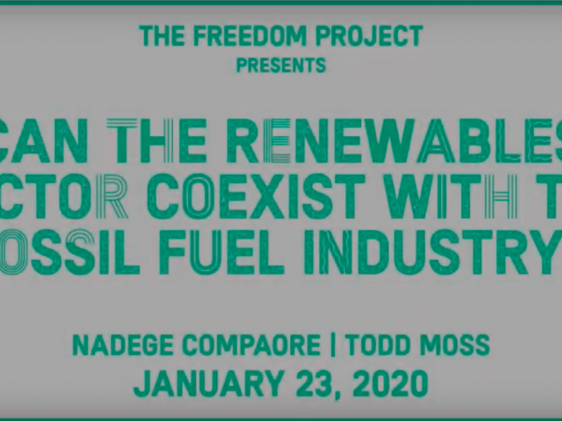 Can the renewables energy sector coexist with the fossil fuels industry?